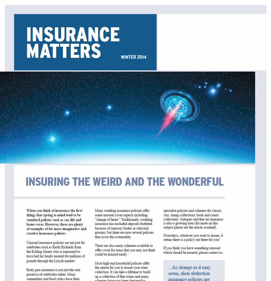 "Winter 2014-2015 ""Insurance Matters"" Newsletter"