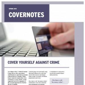 """Spring 2015 """"Covernotes"""" Newsletter"""