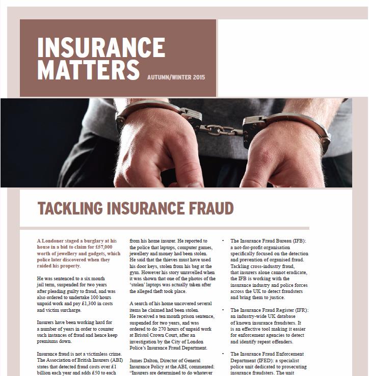 "Winter 2015 ""Insurance Matters"" Newsletter"
