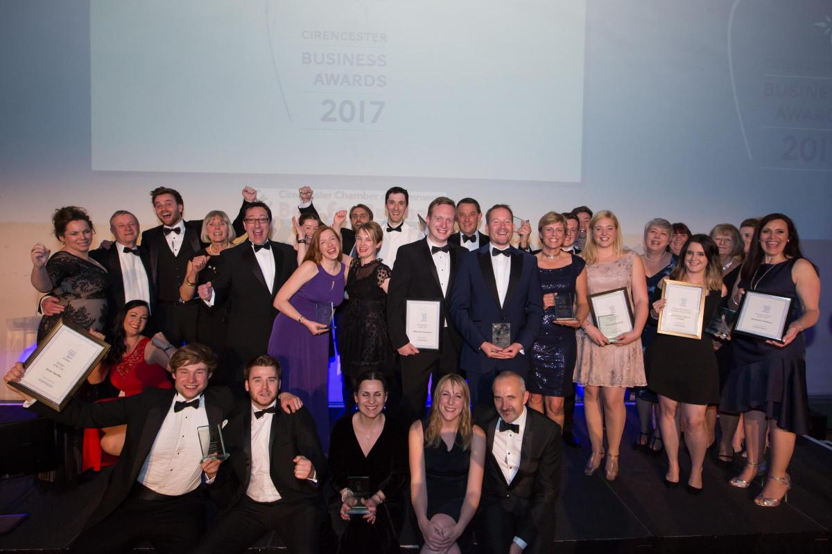 All of the winners of the Cirencester Business Awards 2017