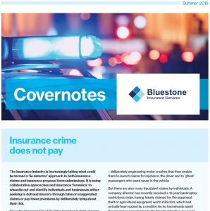 a preview image of the covernotes 2019 newsletter