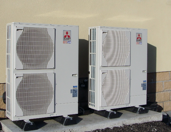 a picture of an air source heat pump