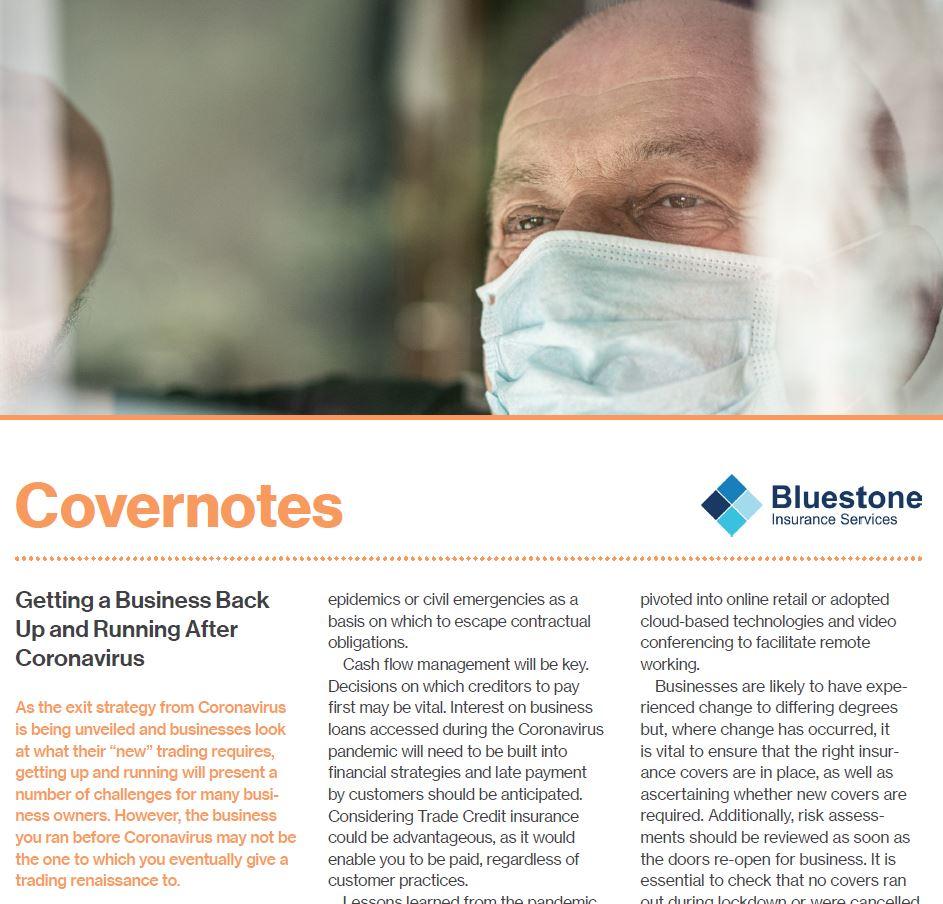 Summer 2020 Covernotes Newsletter