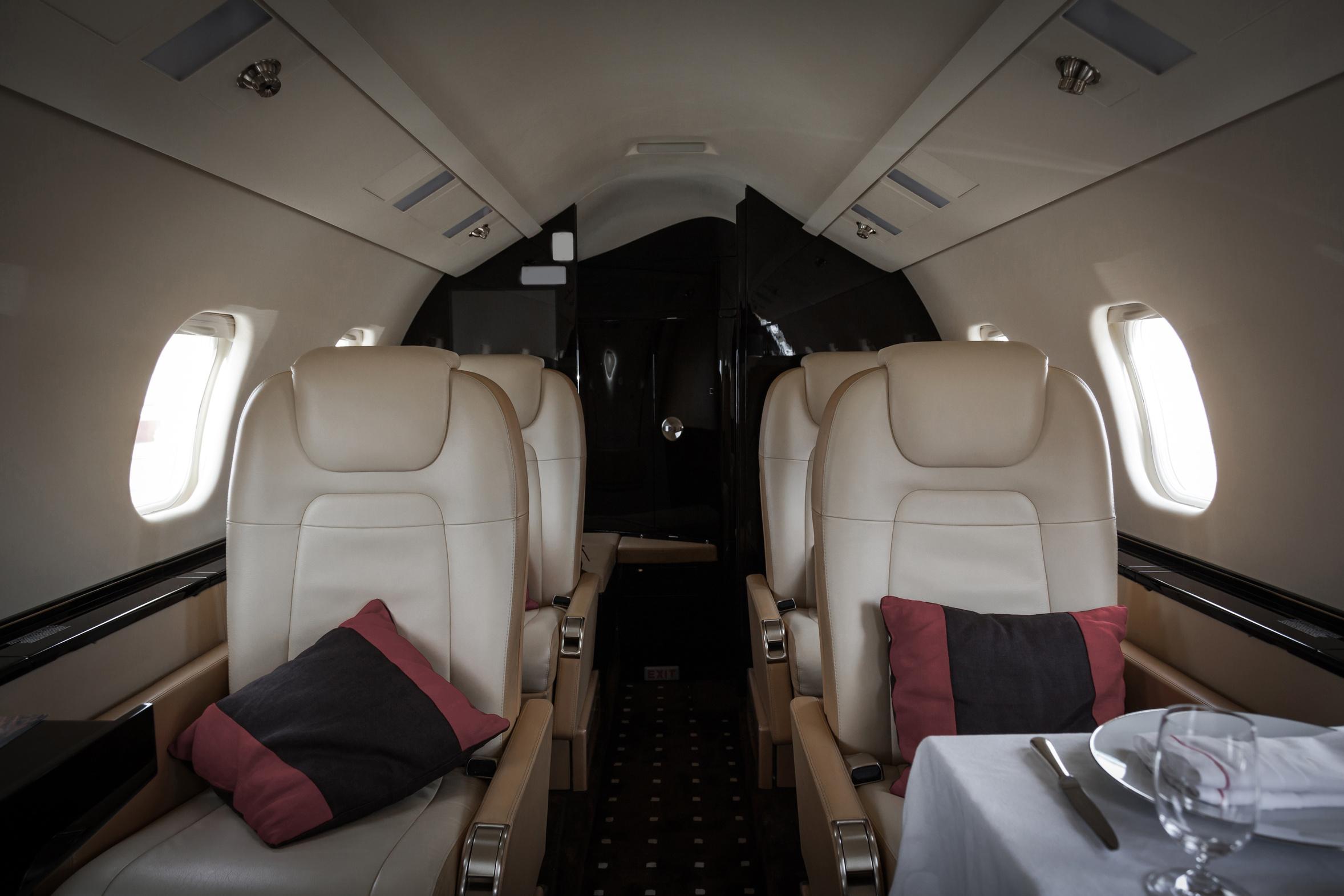 Luxury plane interior