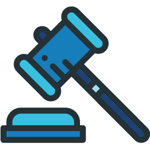 Judge's gavel icon